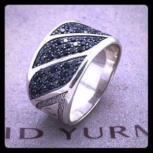 David Yurman cable black diamond ring size 9.75